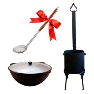 Комплект Печь с трубой+Казан