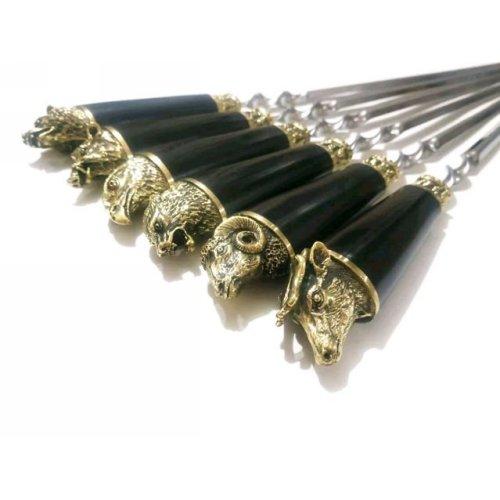 Шампура Подарочные Разные Звери Большое Литье