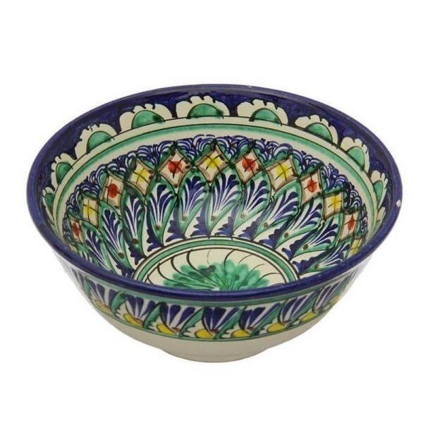 Коса Риштанская Керамика средняя d-15,5 см. h-8 см. синяя 2
