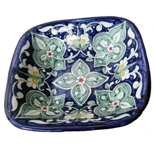 Салатница Риштанская Керамика 19 см, цвет микс